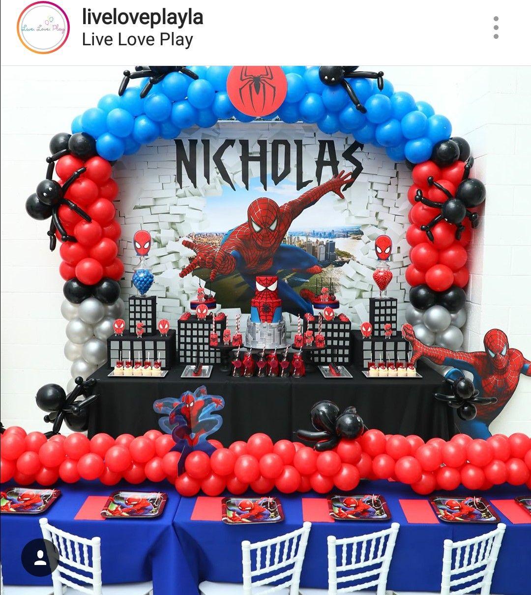 Amazing Spider Man Theme Birthday Party Spiderman Birthday Party