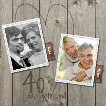 40 Jaar Getrouwd Uitnodiging Zelf Maken