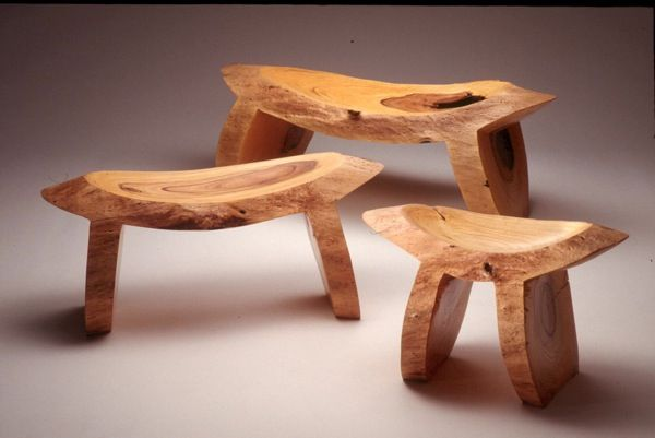 Curved Chainsaw Mini Benches