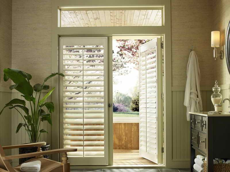 back door window treatment idea | 18 photos of the window ... - Patio Window Coverings Ideas