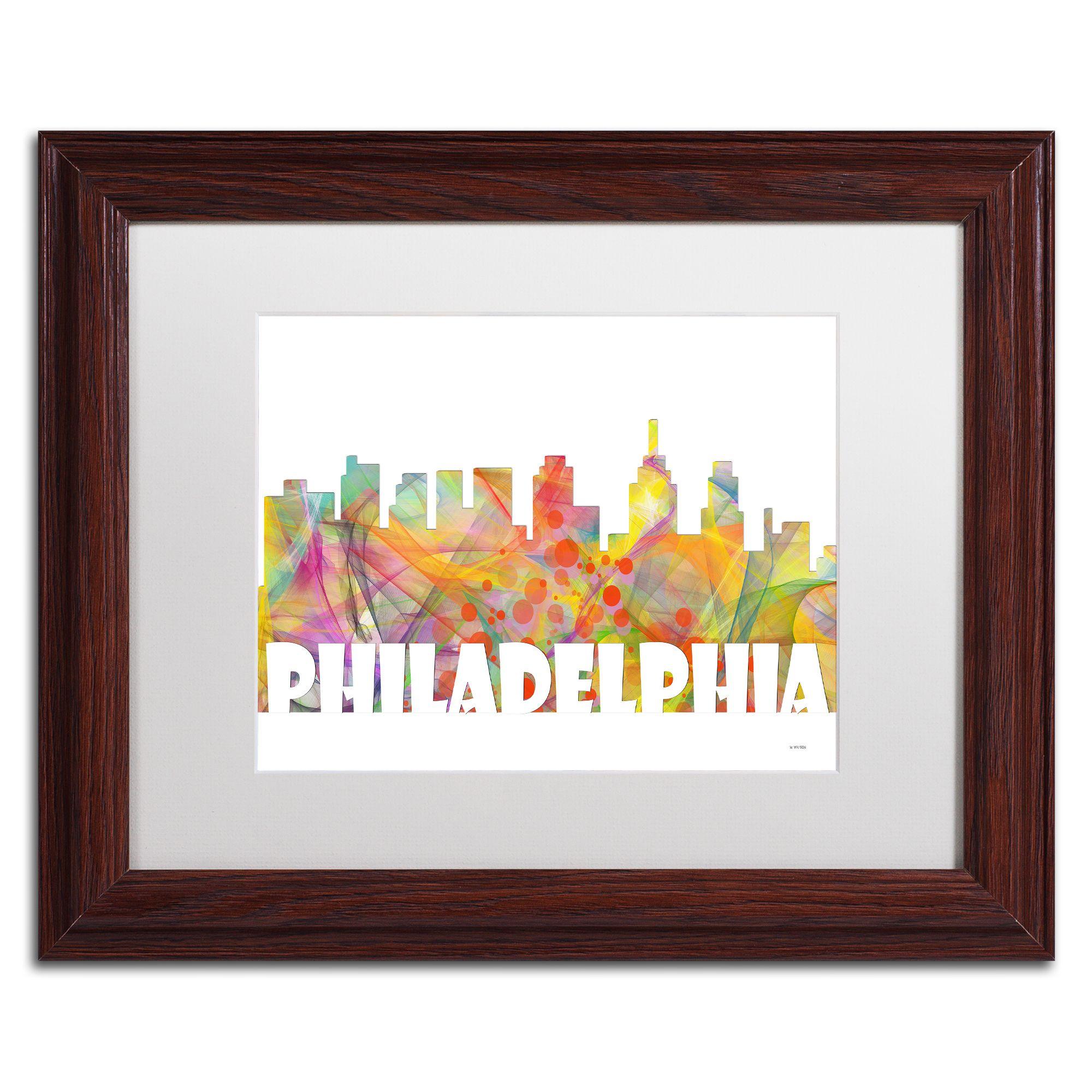 Trademark Fine Art Philadelphia Skyline Canvas Art By Marlene Watson,