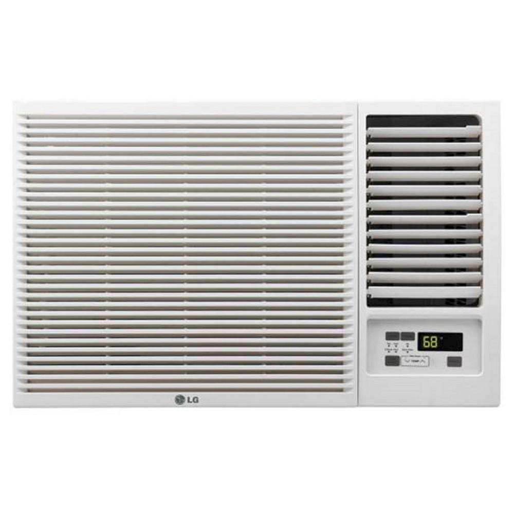 Lg 12000 Btu 230v Window Mounted Air Conditioner With 11 200 Btu Supplemental Heat Function White In 2020 Best Window Air Conditioner Central Air Conditioners Air Conditioner