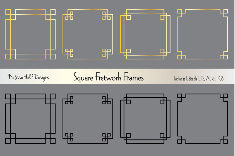 This Is A Huge Collection Of Classic Square Fretwork Frame Graphics By Melissa Held Designs This Include Logo Design Tutorial Layout Design Inspiration Design