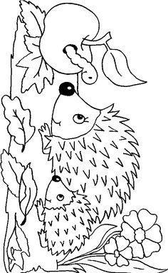 Photo of Bilde å fargelegge høstpinnsvin – fargeleggingssider for barn