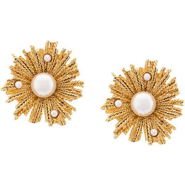 Oscar De La Renta Pearl Earrings in Metallics ieYyuv