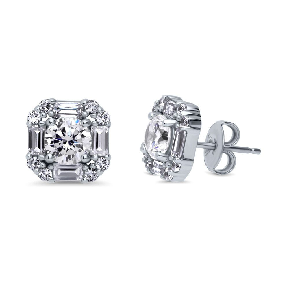 becc1abec Details about BERRICLE Sterling Silver CZ Art Deco Halo Anniversary ...