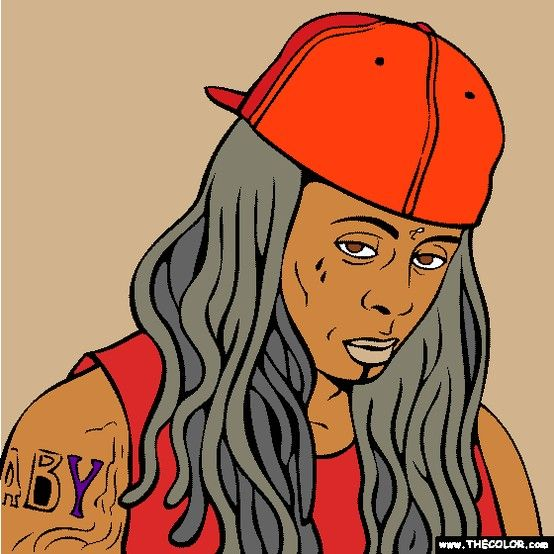 - Lil Wayne Coloring Page! Http://www.thecolor.com/Coloring/Lil-Wayne-2.aspx  Rapper Lil Wayne, Lil Wayne, Aurora Sleeping Beauty