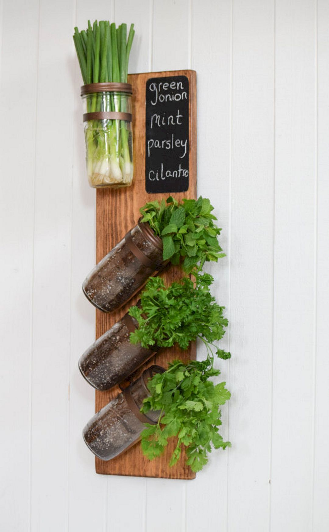 Wonderful Vertical Herb Garden Is Perfect For My Indoor Garden. Mason Jar Unscrews  From Wall Mount. Created With Solid Wood, Chestnut Stain With Mason Jar  Planters ...