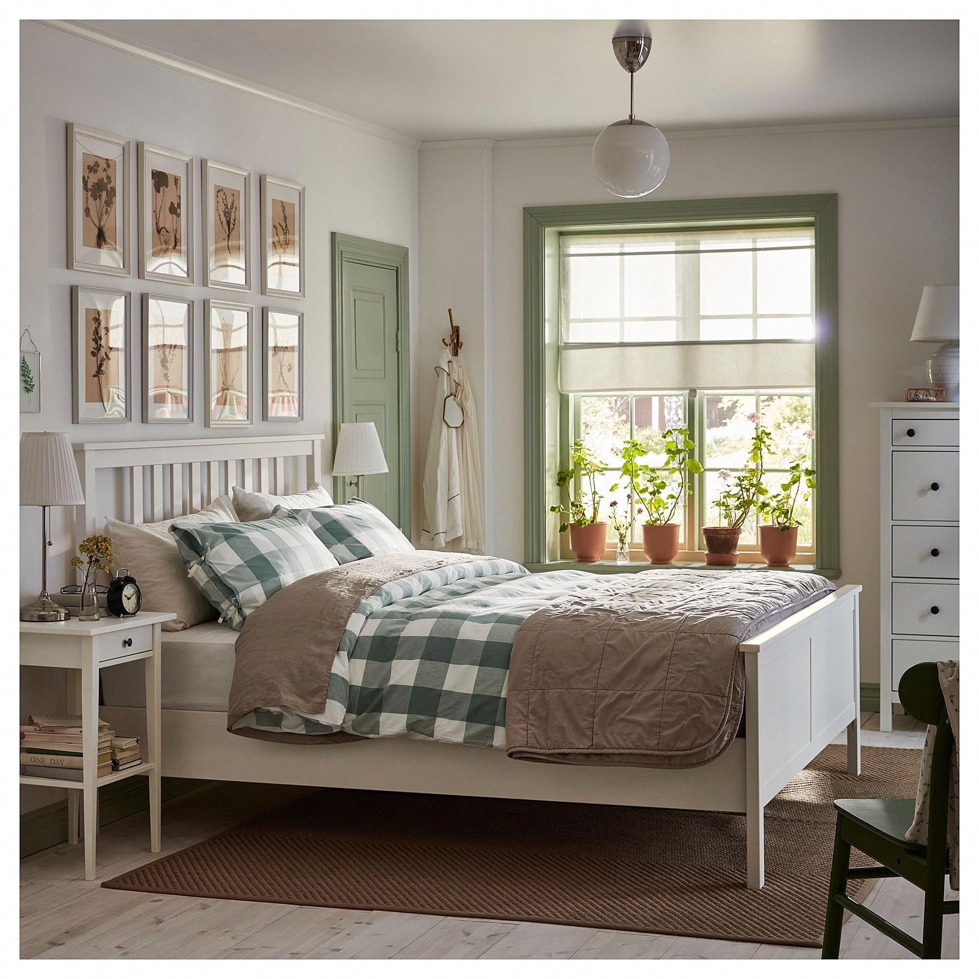 IKEA HEMNES White Stain, Espevär Bed frame
