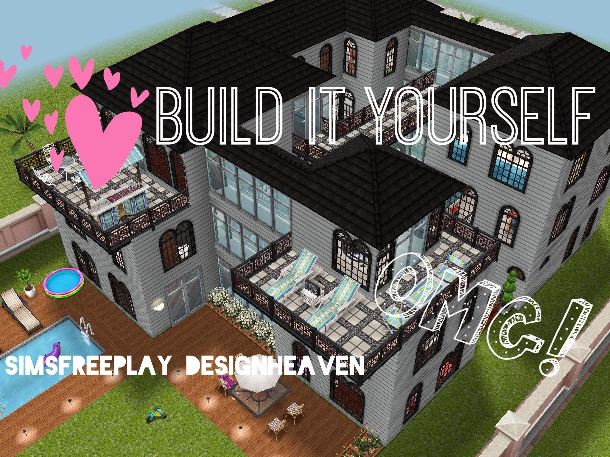 Sims Freeplay Build It Yourelf Family Mansion The