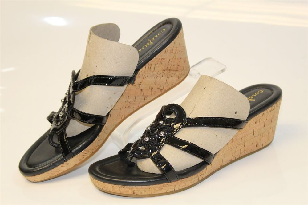 cf9acdc4f7231 Cole Haan MISMATCH Womens 8 8.5 B Shayla NEW Wedge Sandals Shoes ...
