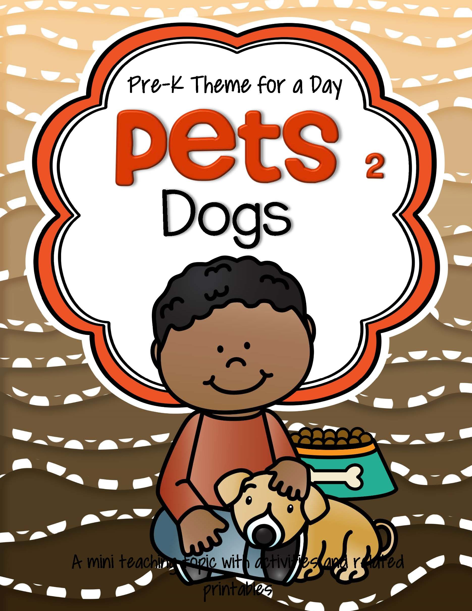 Dogs Theme Math And Literacy Activities Printables And