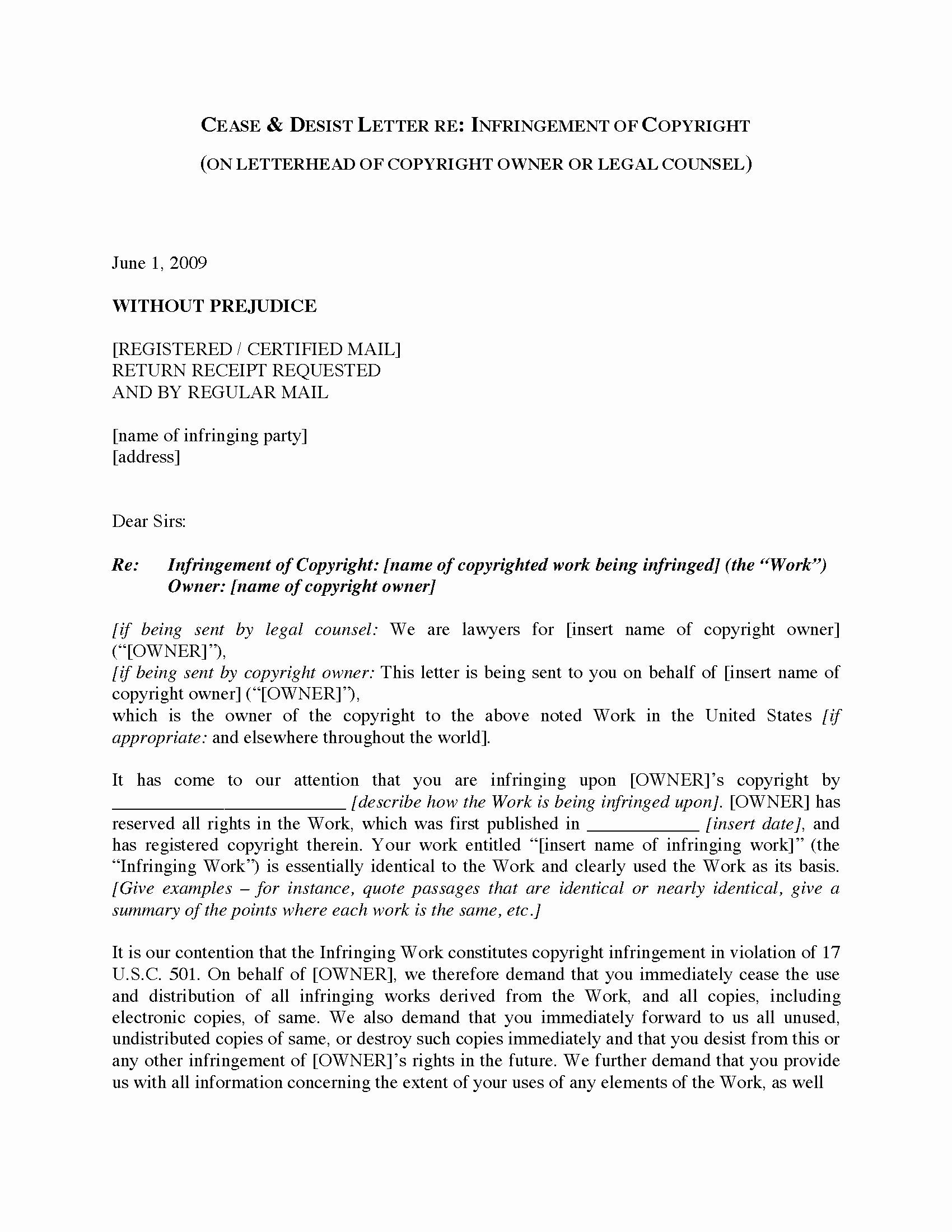 21+ Cease and desist letter template uk ideas in 2021