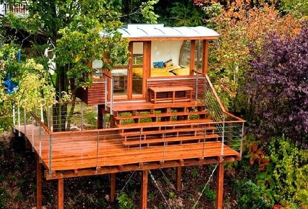 the choice of materials outside of the tree house and the land is characterized by the - Most Expensive Tree House In The World