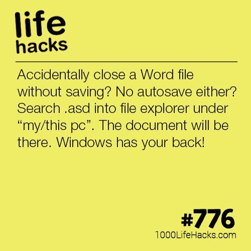 Find A Lost Word Document Without Autosave Life Hacks 1000 Lifehacks Lernen