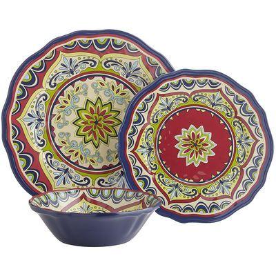 Sevilla Melamine Dinnerware from Pier One Imports  sc 1 st  Pinterest & Sevilla Melamine Dinnerware from Pier One Imports | bedroom ...