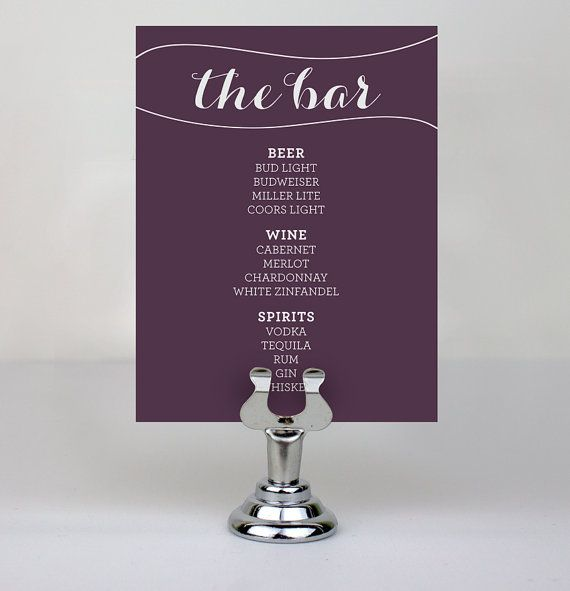 Printable Bar Menus By LauraFirestoneDesign On Etsy, $15