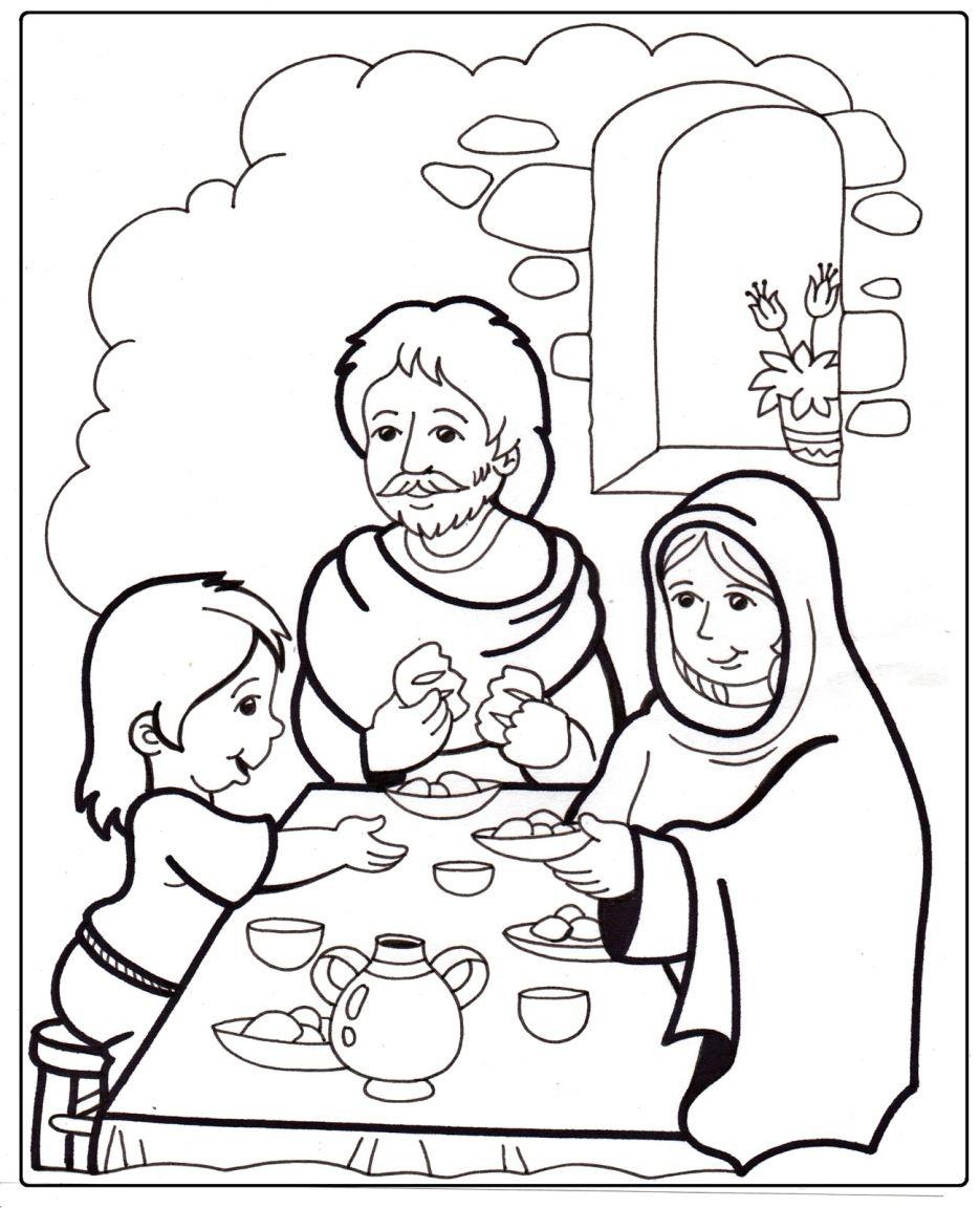 infanzia di gesù disegno da colorare | scuola | Pinterest | Familia ...