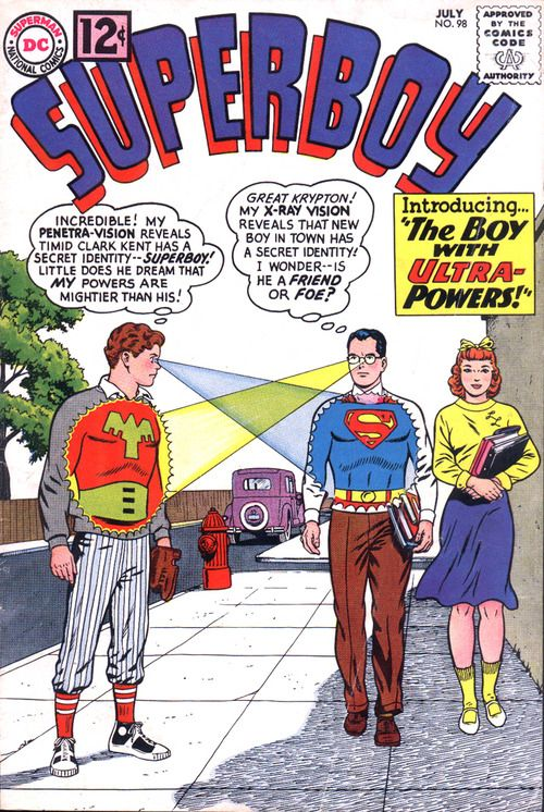 Superboy introducing the boy with ultra powers comic book july superboy introducing the boy with ultra powers comic book july 1962 fandeluxe Images