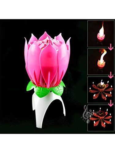The Amazing Singing Birthday Candle Musical Magical Happy Pink Candles