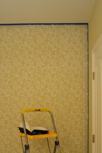 How to Stencil a Wall + A Trick to Fix the Uneven Edges | Stenciling ...