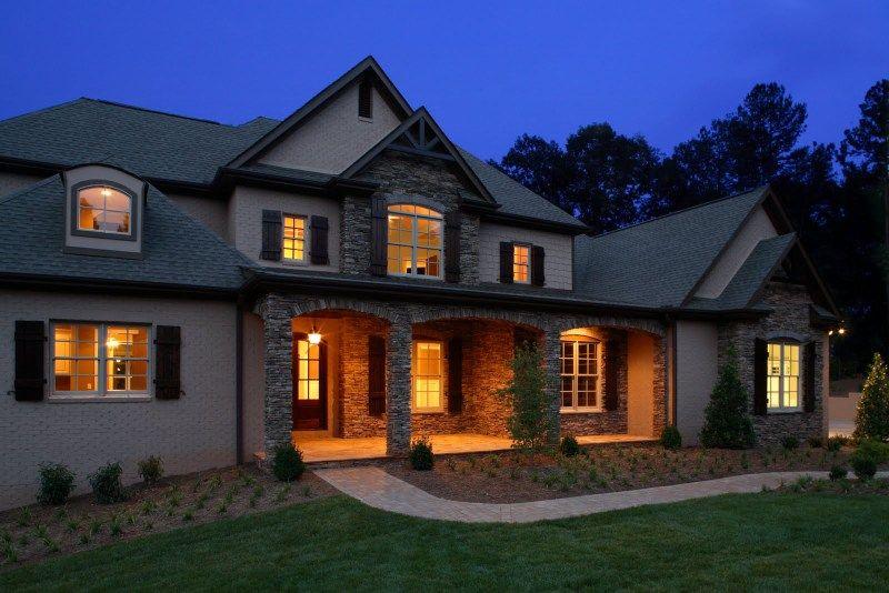 Exterior milestone custom homes greenville sc for Custom home builders anderson sc
