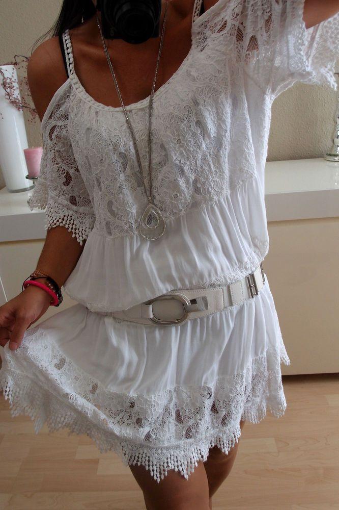 tunika kleid neu l 42 italy blogger trend hippie boho shirt musthave vintage 40 boho style. Black Bedroom Furniture Sets. Home Design Ideas