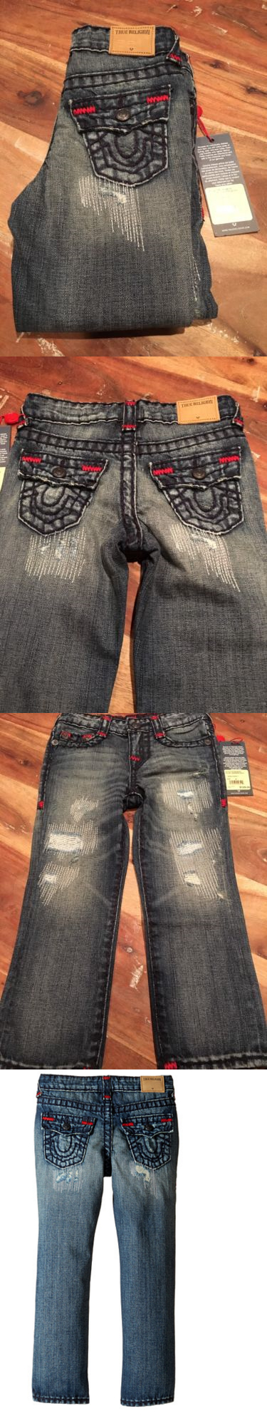 13c0df25e Jeans 77475: Nwt True Religion Toddler Boys Geno Super T Jeans Tarnished  Wash Size 4T $129 -> BUY IT NOW ONLY: $59.99 on eBay!