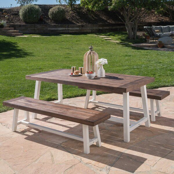 Bartlesville 3 Piece Dining Set In 2020 Outdoor Dining Set