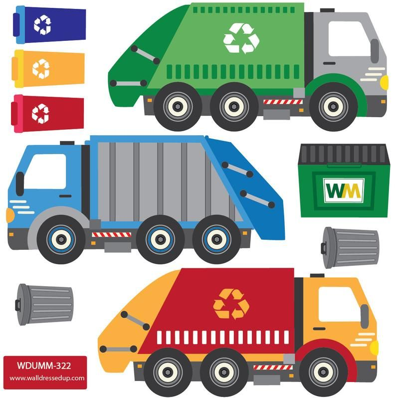 Wall Decals Garbage Trucks Recycling Truck With Straight Road Decals Matte Fabric Repostionable Eco Friendly Wall Stickers In 2020 Garbage Truck Truck Design Garbage Recycling