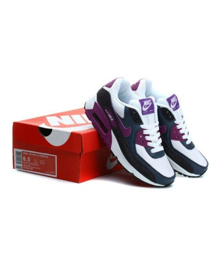buy popular bda24 023ac Womens Nike Air Max 90 Hyperfuse Black White Purple 6809331-660