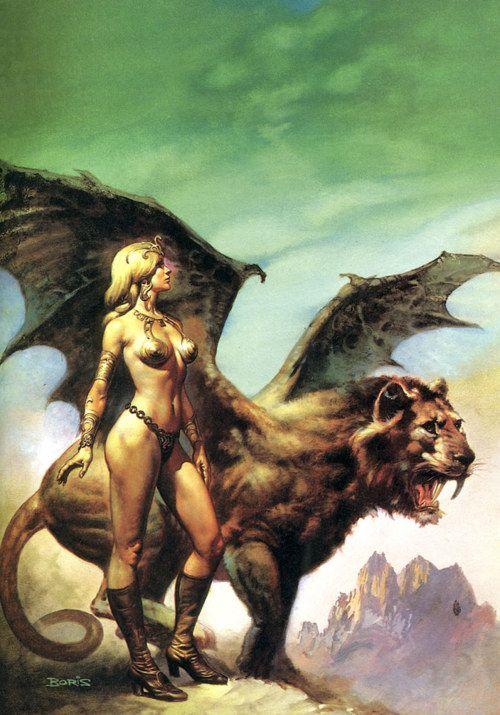 Boris Vallejo Winged Lion Fantasy Art Boris Vallejo