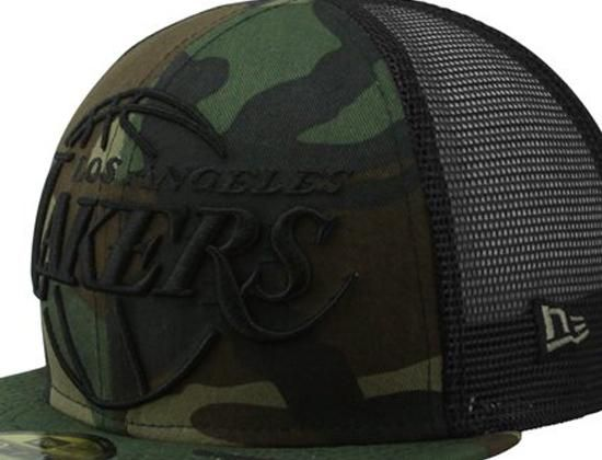 8388c6bf254 NEW ERA x NBA「Los Angeles Lakers Woodland Camo Mesh」59Fifty Fitted Baseball  Cap