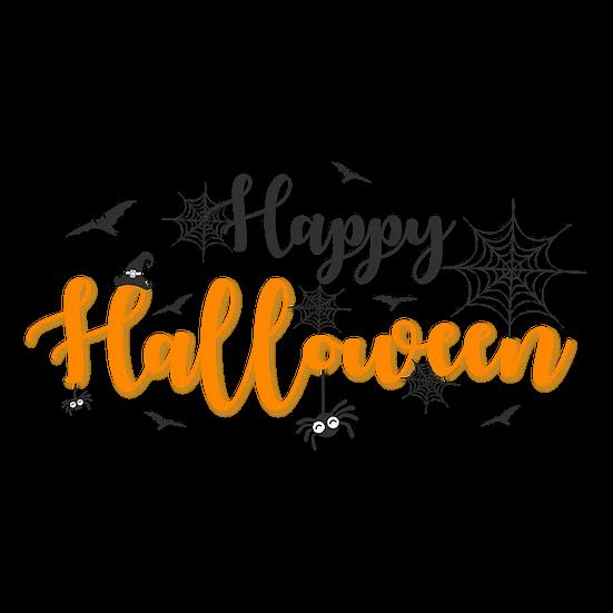 Happy Halloween Printables Png Image Editable Downloadable Upcrafts Design Halloween Typography Halloween Chalkboard Halloween Design