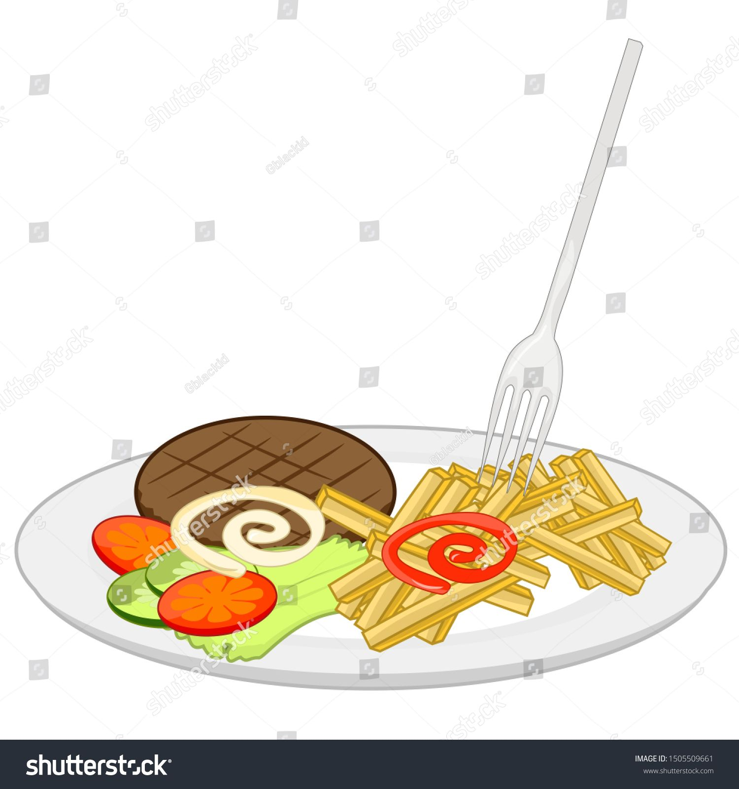 Simple illustration of a food and drink #Sponsored , #AFF, #illustration#Simple#drink#food