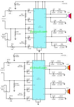 Ta8215 4 Channel Power Amplifier Circuit Circuito Electronico