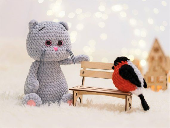 CROCHET CAT PATTERN - Amigurumi pattern Plush Cat - Crochet animal pattern - Stuffed crochet toy pattern #beartoy
