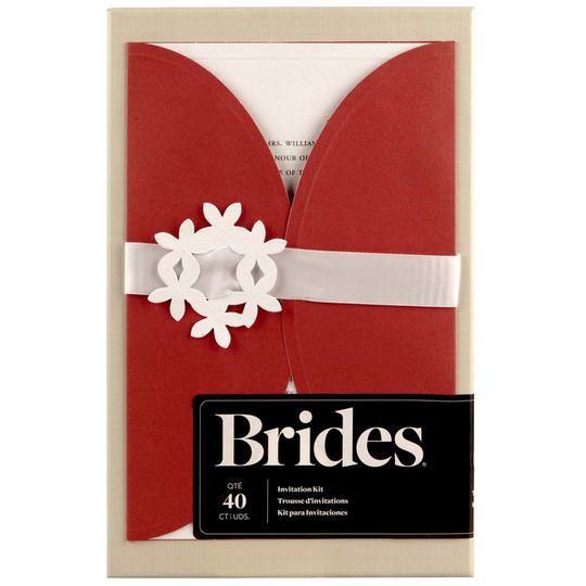 Brides Wedding Invitation Kit: Brides® Red Jacket Invitation Kit