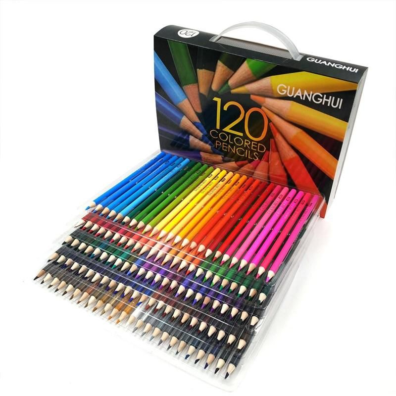 120 Pcs Lot 120 Colors Wood Colored Pencil Painting Drawing