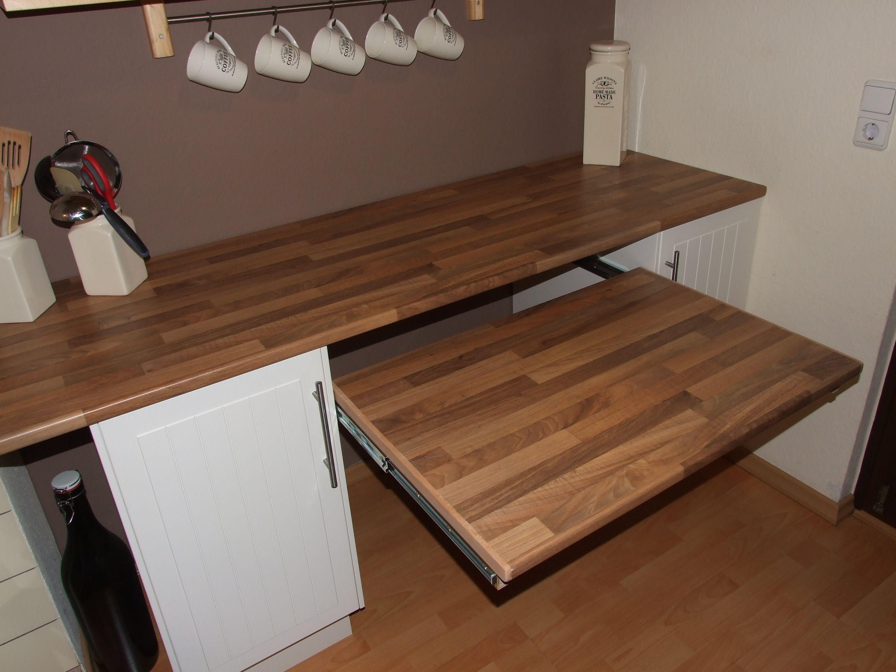 Ausziehbarer Tisch Unter Der Kuchenarbeitsplatte Bauanleitung Ausziehbarer Tisch Kuche Tisch Arbeitsplatte Kuche