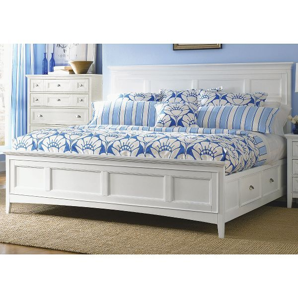 Classic White Queen Storage Bed Kentwood In 2019