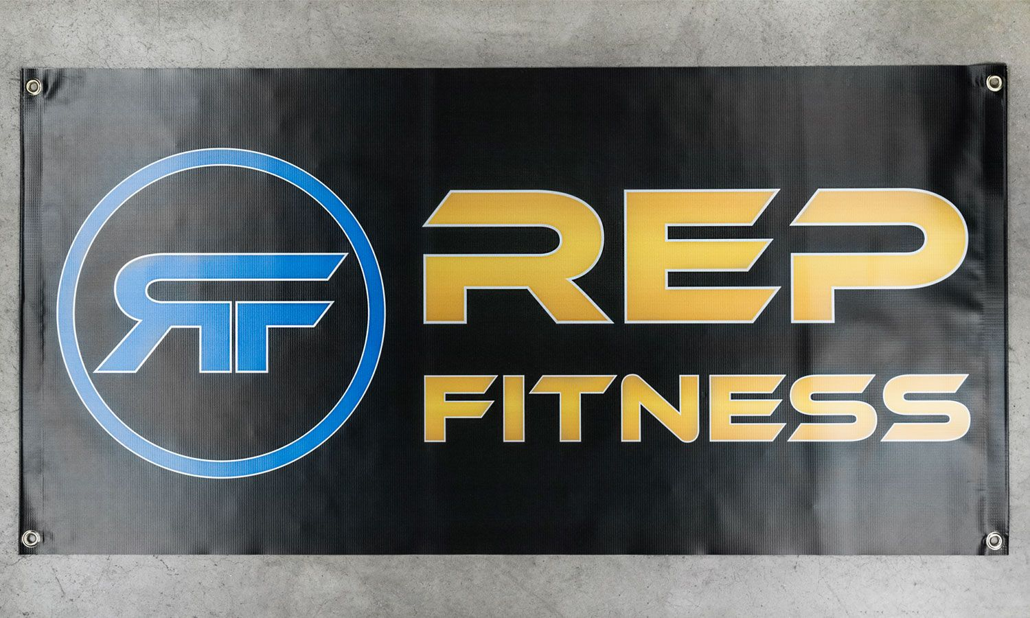 Rep fitness banners garage gym banner garage gym logos