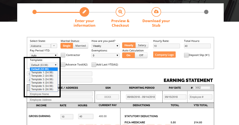 How to choose from free pay stub templates? Templates