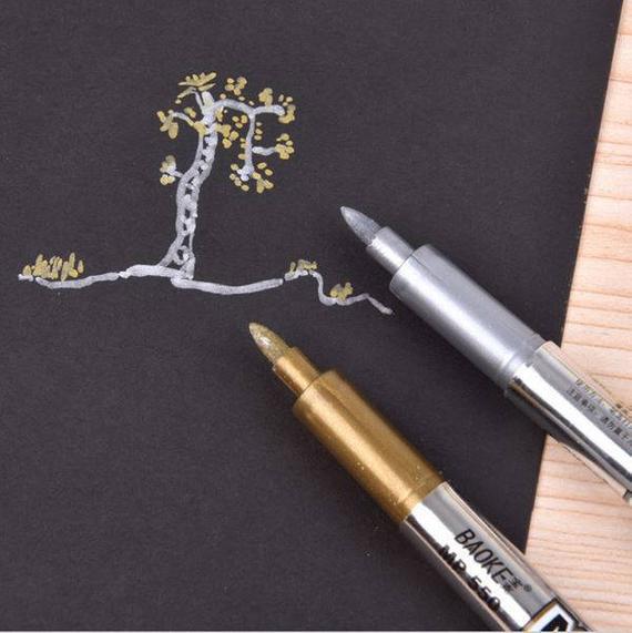 Gold /& Silver Metallic Gel Pens Stationery School Children Christmas Cards