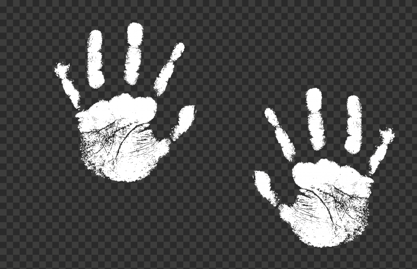 Hd White Two Realistic Hand Print Png Print Realistic Png