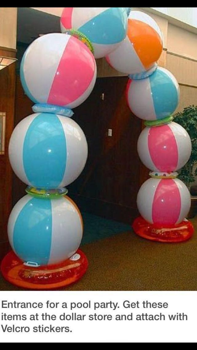 Beach ball arch Celebrate Pinterest Beach ball and Birthdays