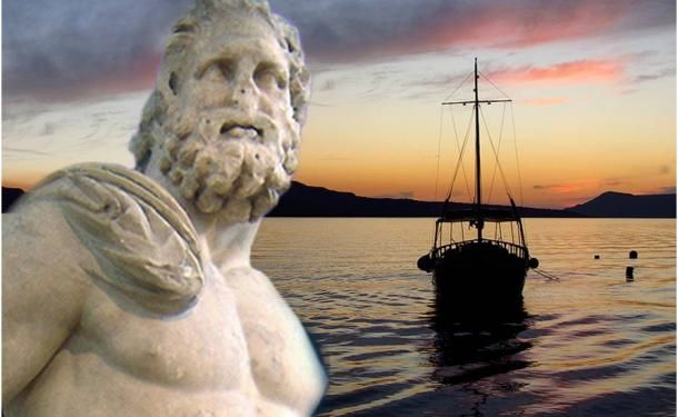 Poseidon was the Greek god of the sea, the shaker of the land responsible for earthquakes, and the god of horses. Usually living in the sea, he could make the waters either calm or stormy depending on his volatile moods. As a patron deity of Athens, Poseidon competed with Athena, who planted the sacred olive tree, by establishing a magical well of salt water on the Acropolis.