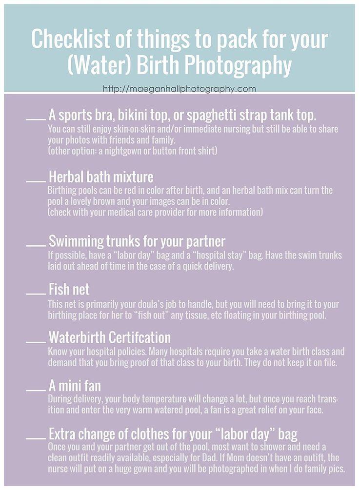 Hospital Bag Checklist For Water Birth Photography I Maegan Hall Atlanta Photographer