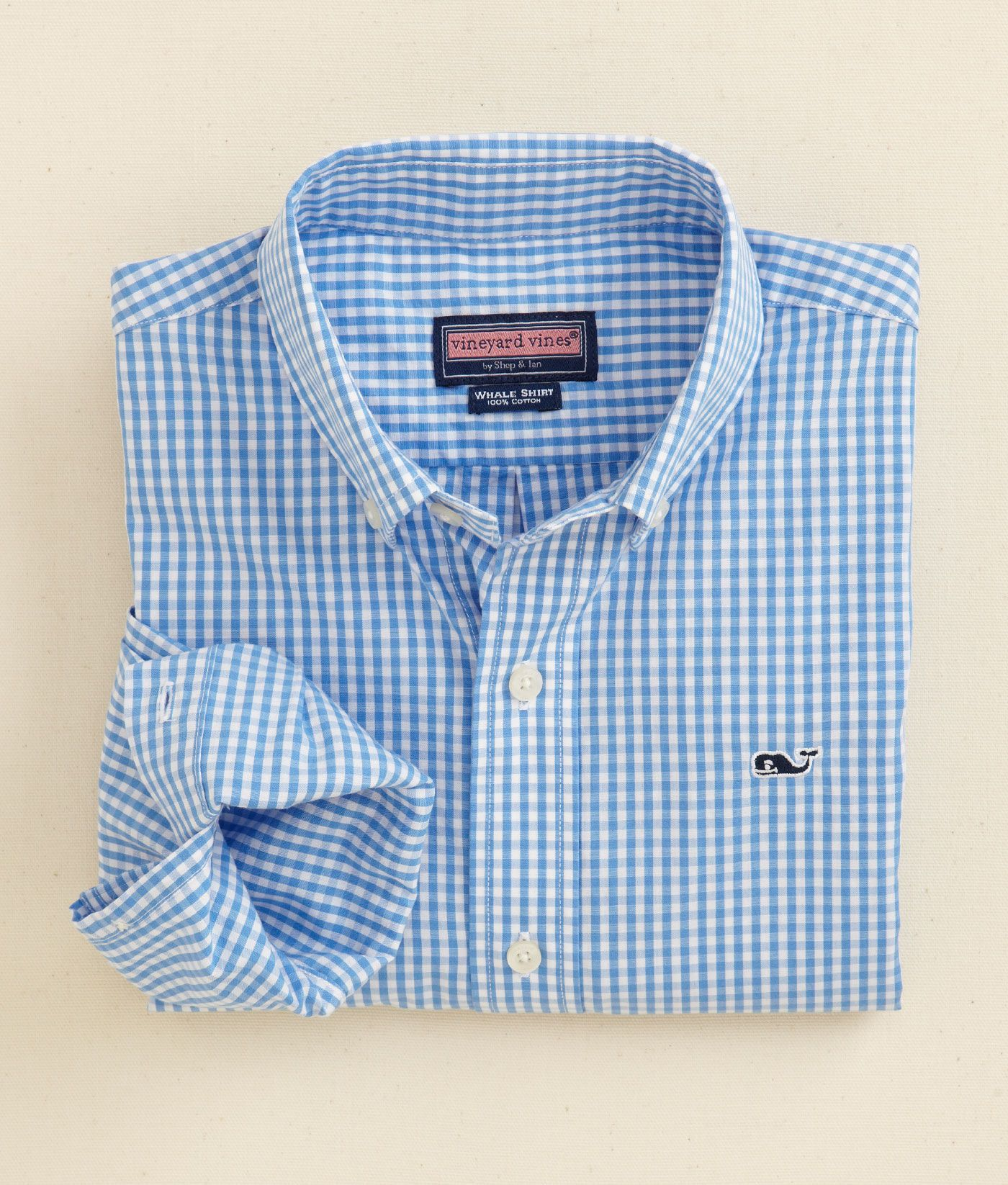13cbfdd4 Shop Shirts: Classic Gingham Whale Shirt for Boys | Vineyard Vines ...