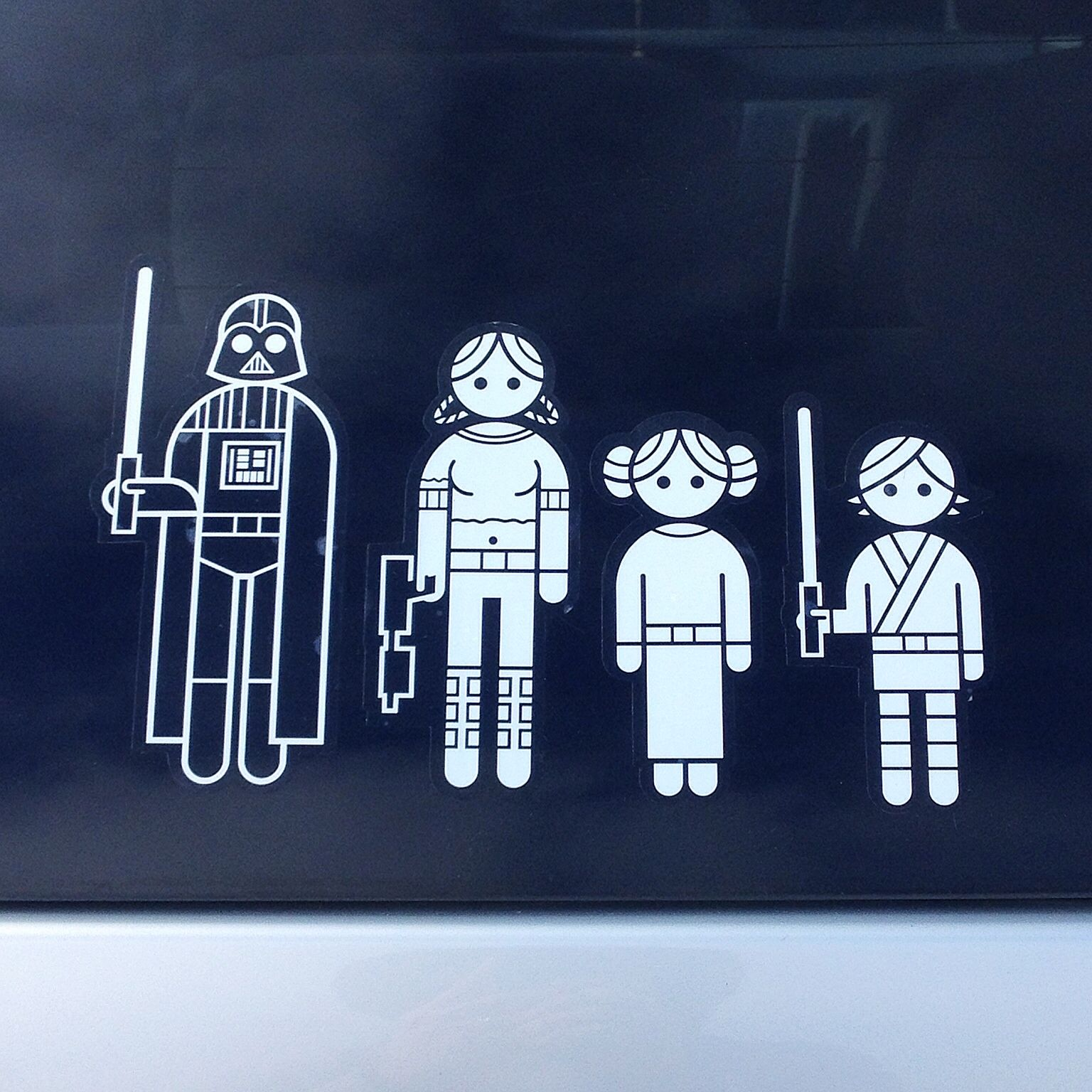 Star Wars Family Stick Family Pinterest Star - Vinyl decal stickers for carsbest car decals images on pinterest car decals family
